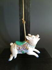 Lenox Pig Carousel Ornament 1989 Christmas Animal Holiday Tree Vintage