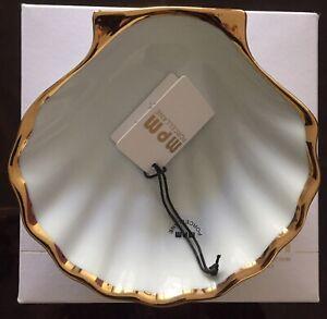 Sehr Schöne Schale Muschelform -Goldlegiert -Porcelan - Shell- Made in Italy