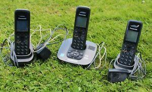 Panasonic Phone Set KX-TGA642 Main Base & Two Extensions WORKING