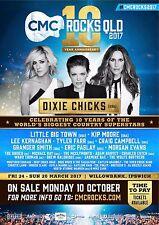 "DIXIE CHICKS/LITTLE BIG TOWN ""CMC ROCKS QLD 2017"" AUSTRALIAN CONCERT TOUR POSTER"