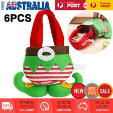 6 Christmas Santa Elf Candy Bag Xmas Gift Bags Christmas Tree Hanging Decoration
