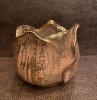 Vintage Stangl Hand Painted Granada Gold Tulip Flower Bowl Vase 5144