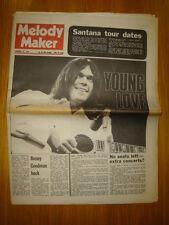 MELODY MAKER 1971 FEB 27 NEIL YOUNG CARLOS SANTANA
