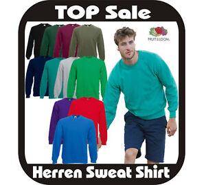 3x (10,65€/Stück) Sweatshirt Herren Pullover Fruit of the Loom 13 Farben