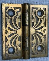 "1 Pair Antique Jelly Cupboard Hinge door 1880 Cabinet Eastlake 2 X 1 3/4"" bronze"