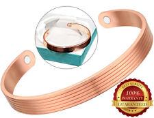Magnétique Cuivre Bracelet 2 Magnet Guérison Pain Arthrite Cuff Bangle Wristband