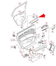 Audi Q7 4L Rear Right Door Card Panel Strip Trim 4L0867420E1B4 NEW GENUINE