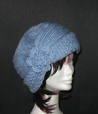 ORIGINAL Knitting PATTERN - Sky Blue Charming Wishful Hat (Cloche-Slouchy)