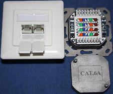 Netzwerk-Dose CAT.6a  LSA+ LAN 2-fach RJ 45 500 Mhz 10 GB Datendose cat.6 a