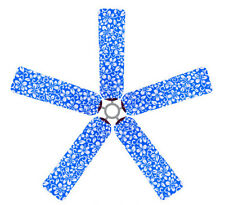 Ceiling Fan Blade FABRIC Cover BLUE HAWAII flower home decor 5 decorative pieces