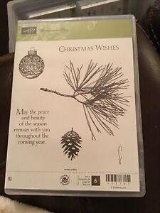 "Stampin Up! ""Ornamental Pine"" Stamp Set 135107 NEW"