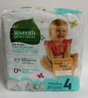 Seventh Generation Free & Clear Diapers, Sensitive Skin, Size 4, 27 Diapers