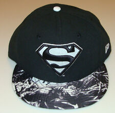 New Era Cap Hat Fitted 7 3/8 Superman 59Fifty Glow in the Dark Logo & Brim Tonal