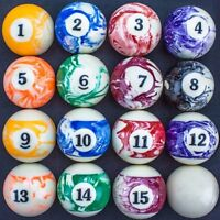Precision Engineered Marbled Pool Balls