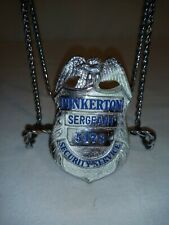 Vintage Pinkerton Sergeant Security Services Badge #5478 Obsolete