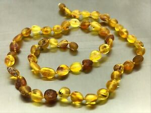 BALTIC AMBER NECKLACE Unpolished Untreated Healing Beads Raw Ladies 14,7g 15405