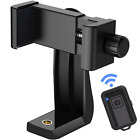 Cell Phone Tripod Mount Adapter with Remote 360 Rotation Smartphone Holder