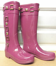 Stunningly Beautiful Hunter Berry Regent Hurlingham Riding Rain Boots Very Rare