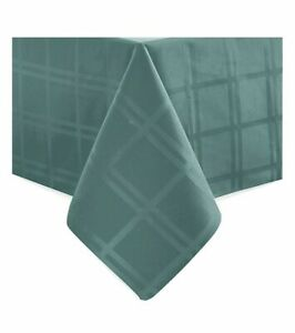 Origins Microfiber Oblong Tablecloth 60 Inch x 140 Inch Turquoise