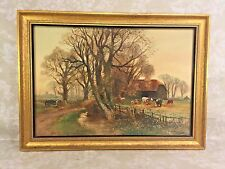 Henry Charles Fox Farm Scene Watercolor Painting Signed and Dated Newman Gallery