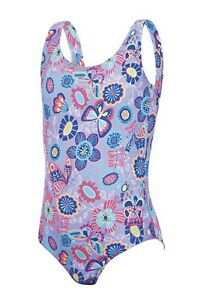 Zoggs Tots Girls Wild Classicback Lilac/Multi Swimsuit Ages 1 - 2 Years