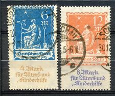 Reich 233 - 234 gebruikt; infla geprüft