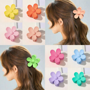 Frosted Hair Clip Hair Claw Hair Accessories Candy Colors Big Flower Shaped