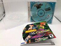 Marvel vs. Capcom 2 (SEGA Dreamcast) COMPLETE CIB Book is a Repod. Tested Clean