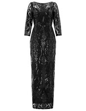 BNWT MONSOON SELITA Black Sequin Long Evening Maxi Dress Ball Gown Size 12 £129