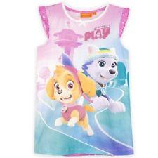 Pijamas y batas de niña de 2 a 16 años camisón rosa 100% algodón