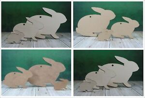 Wooden rabbit / Easter bunny shapes MDF or plywood craft blanks and cut-outs