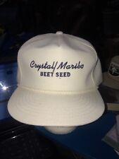 trucker hat baseball cap CRYSTAL MARIBO SUGAR  BEET SEED cool lid old school