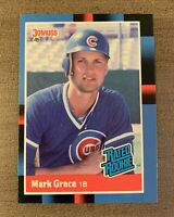 1987/1988 DONRUSS MARK GRACE RATED ROOKIE RC #40 MLB CHICAGO CUBS BASEBALL CARD