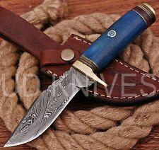 UD HANDMADE FIXED BLADE 1095 DAMASCUS ART HUNTER SKINNER KNIFE CAMEL BONE 9626