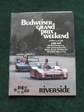 Budweiser Grand Prix Weekend October 25-6, 1980 Can-Am Racing Program Riverside