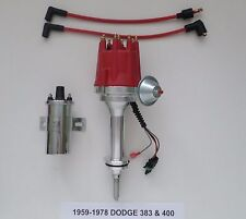 car \u0026 truck distributors \u0026 parts for dodge without warranty ebaysmall cap dodge big block 383 400 pro series red hei distributor chrome coil