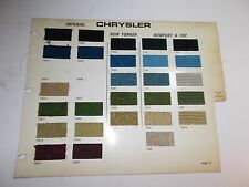 1971 AMERICAN MOTORS & CHRYSLER RARE ORIGINAL FABRIC SAMPLES JAVELIN AMX NEWPORT