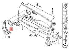 Genuine BMW Front Door Speaker Grille Grill Cover Loudspeaker OEM 51417144553