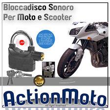 BLOCCADISCO CON ALLARME SONORO PER MOTO E SCOOTER BLOCCA DISCO