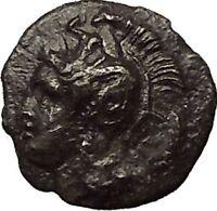 HERAKLEIA in LUCANIA 285BC Athena Hercules Nemean Lion Silver Greek Coin  i54029