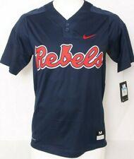 Ole Miss Rebels University Mississippi Nike Dri-Fit Navy Baseball Jersey Men's M