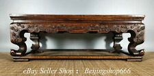 """16"""" Old Chinese Huanghuali Wood Inlay Shell Dynasty 4 Foot Deask Table"""