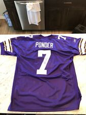 Minnesota Vikings Authentic Christain Ponder Jersey Signed Reebok Size 52