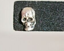 Silver Skull / single earring Vintage Gothic Jewelry