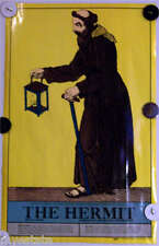 US Game Systems 1970 Vintage Tarot Cards Poster The Hermit Printed USA Fortune