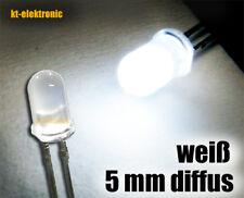 100 Stück LED 5mm weiß matt/diffus ultrahell 16000mcd
