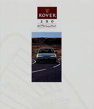 Prospekt Rover 200 Coupé 10 92 1992 Autoprospekt brochure Auto PKWs England