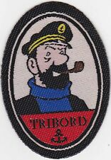 Ecusson à coller thermocollant - Capitaine Haddock  Tribord - Tintin et Milou