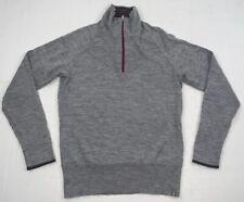 smartwool women's sportknit half zip sr202 merino wool pullover sweater lg xl