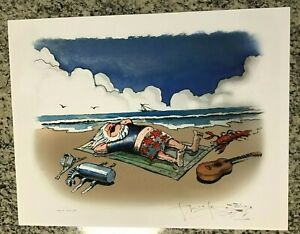 SIGNED By STANLEY MOUSE 'BEACH JERRY' FINE ART PRINT 17 x 22 TEST PRINT